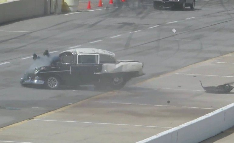 Extreme Drag Racers Crash Throws Him Through Front Window And He Walks Away….. Speechless