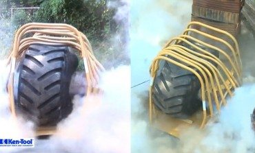 Huge Tyre Explosion Test Cage, So Much Awesome