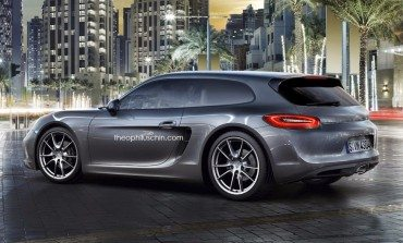 My Eyes, It Burns... Porsche Cayman Shooting Brake Rendered