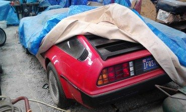 This rare red DeLorean DMC-12 could be yours!
