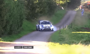 Another amazing save. This time in a rally car.