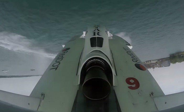 Hydroplane Boat Racing POV Backflip And Crash