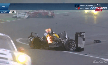 Mark Webber Huge Smash