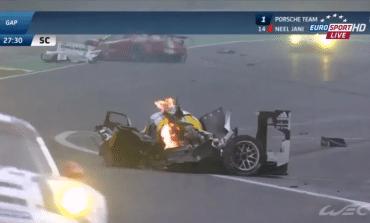 Mark Webber Huge Smash
