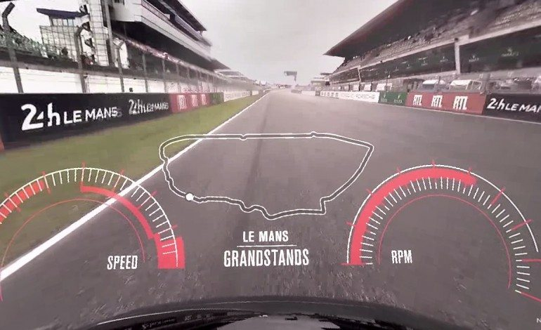 Incredible 360° Video Of A Nissan GTR's Flying Lap Of Le Mans