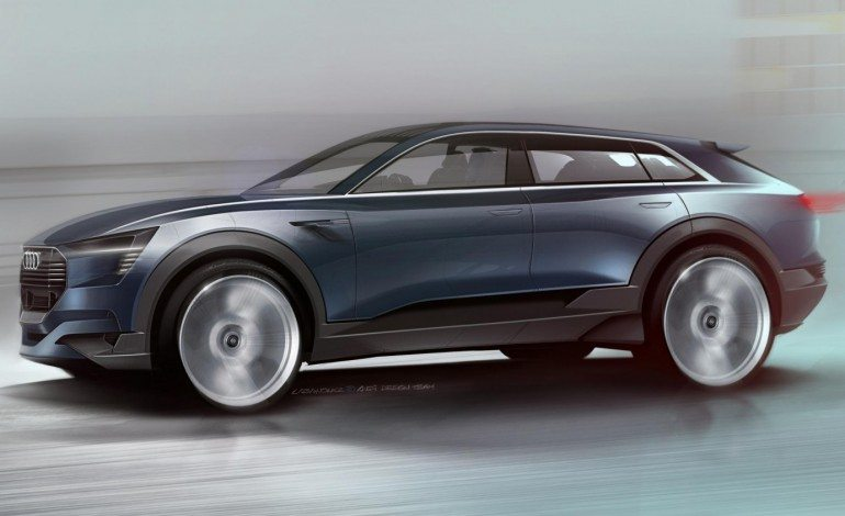 Teaser Sketches For All Electric Audi SUV