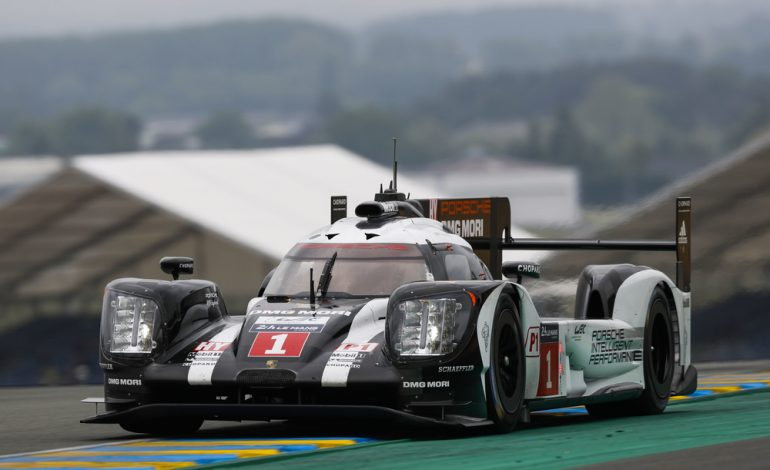 Press Release: Porsche 919 Hybrid going over 320 km/h on a country road
