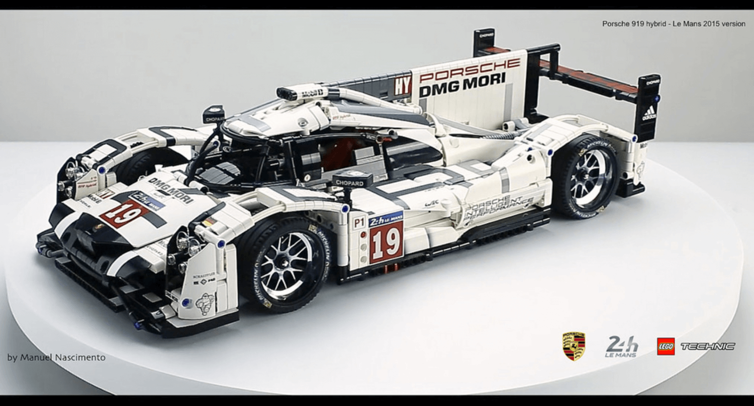 amazing fan built lego technic porsche 919 the 2015 le. Black Bedroom Furniture Sets. Home Design Ideas