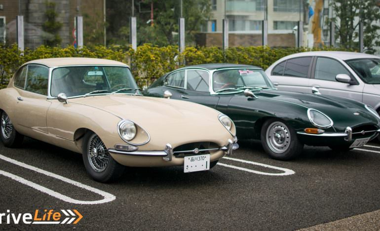 Classic Jags Meet In The Rain – A Very Wet Cars & Coffee in Tokyo